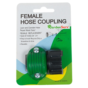 "FEMALE HOSE COUPLING 5/8"" X 3/4"" PLASTIC"