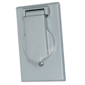"SINGLE HOLE TANDEM 2"" X 4"" WEATHER PROOF COVER"
