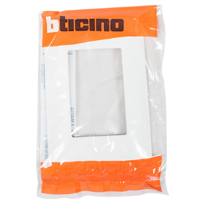 TICINO 3 GANG MATIX PLATE COVER WHITE