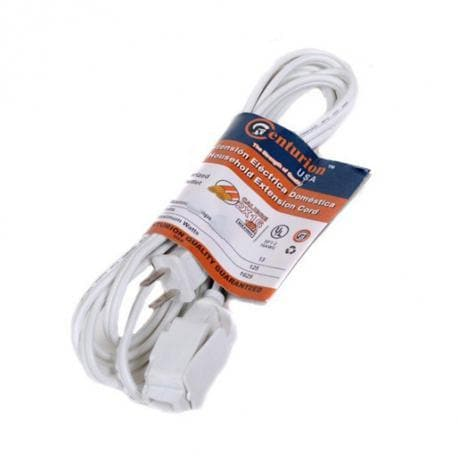 WHITE EXTENSION CORD 15' UL