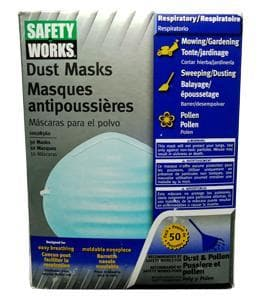 ANTIPERSPIRANT DUST MASKS SAFETY WORKS