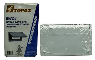 HORIZONTAL WEATHERPROOF GFCI COVER TOPAZ