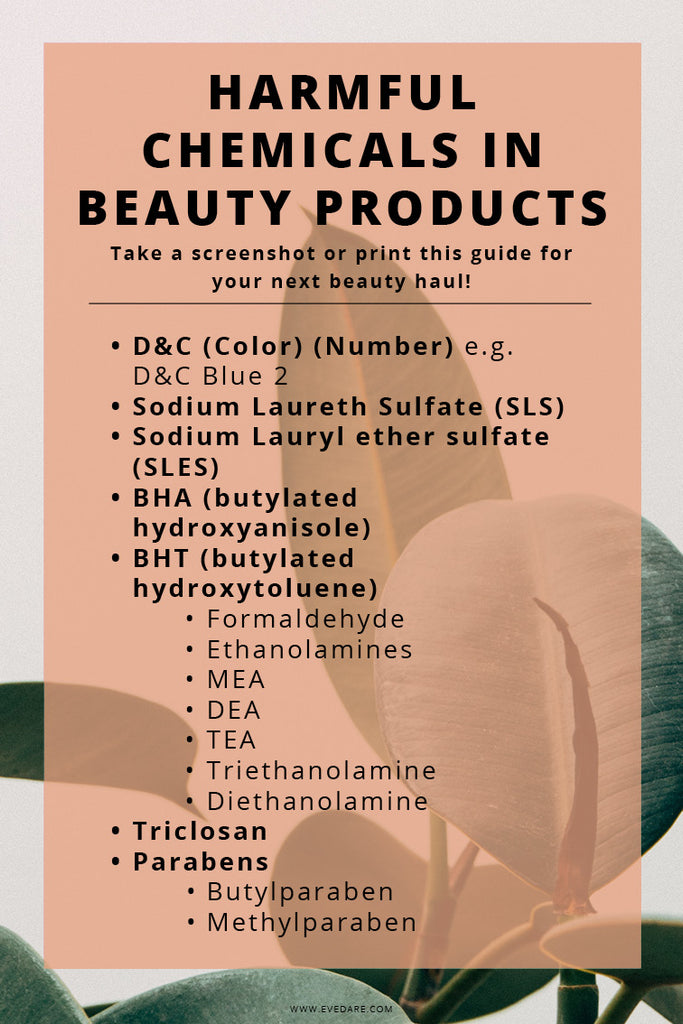 EVEDARE Harmful Chemicals in Beauty Products