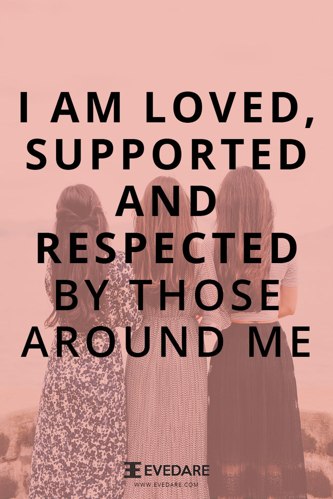 EVEDARE I am loved, supported and respected by those around me