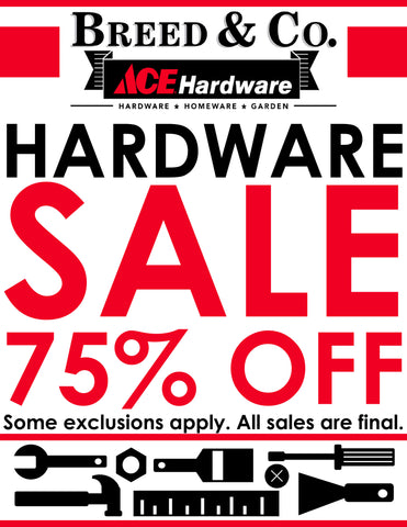 Visit Us And Get 75% Off Select Hardware While Supplies Last!