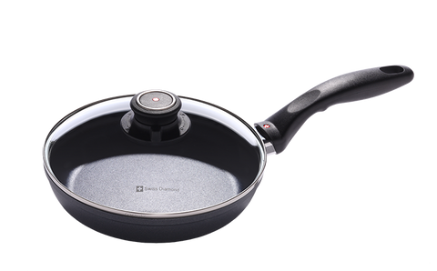 "Swiss Diamond Nonstick 8"" Fry Pan with Lid"