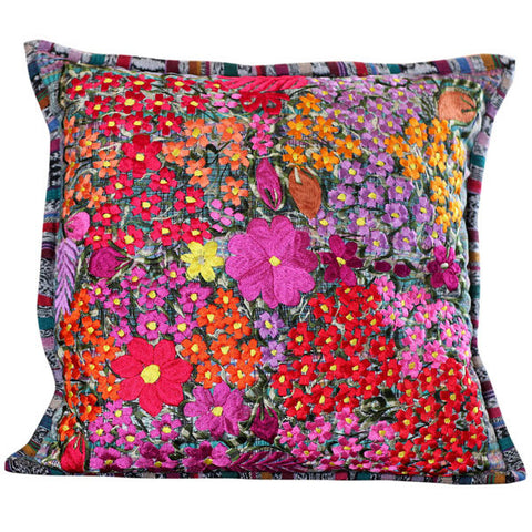 Fresco Blue Floral Pillow