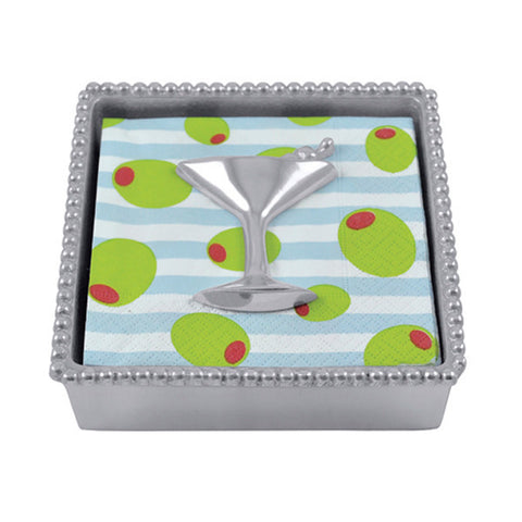 Mariposa Napkin Box with Martini Glass Weight