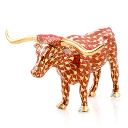 Texas Longhorn - 24K Gold & Rust