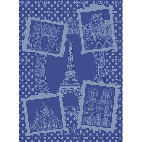 Paris Monuments- Blue Kitchen Towel