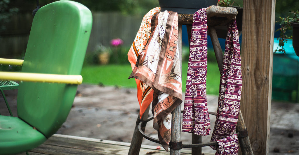 Image of Scarves on Chair