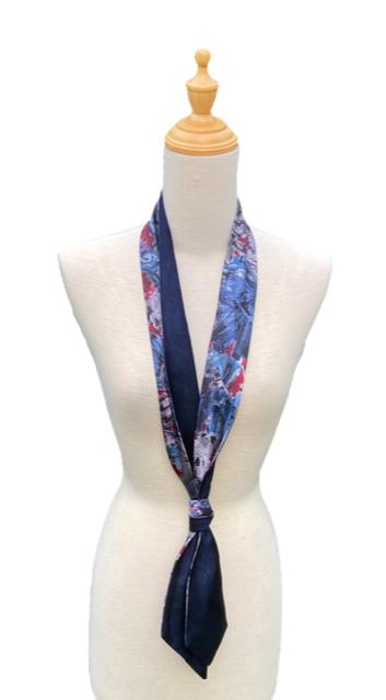 Jett - Abstract Floral Silk Scarf-Ti-Scarves-Inspire Me Scarves