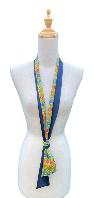 Horace - Lime Flowered Scarf-Ti-Scarves-Inspire Me Scarves