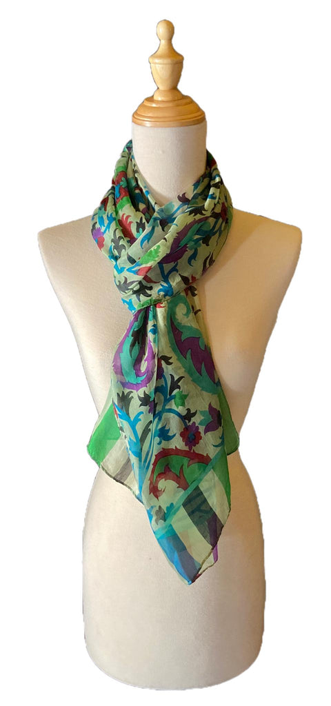 Gerrard - Abstract Silk Scarf-Spring/Summer Inspired Scarves-Inspire Me Scarves
