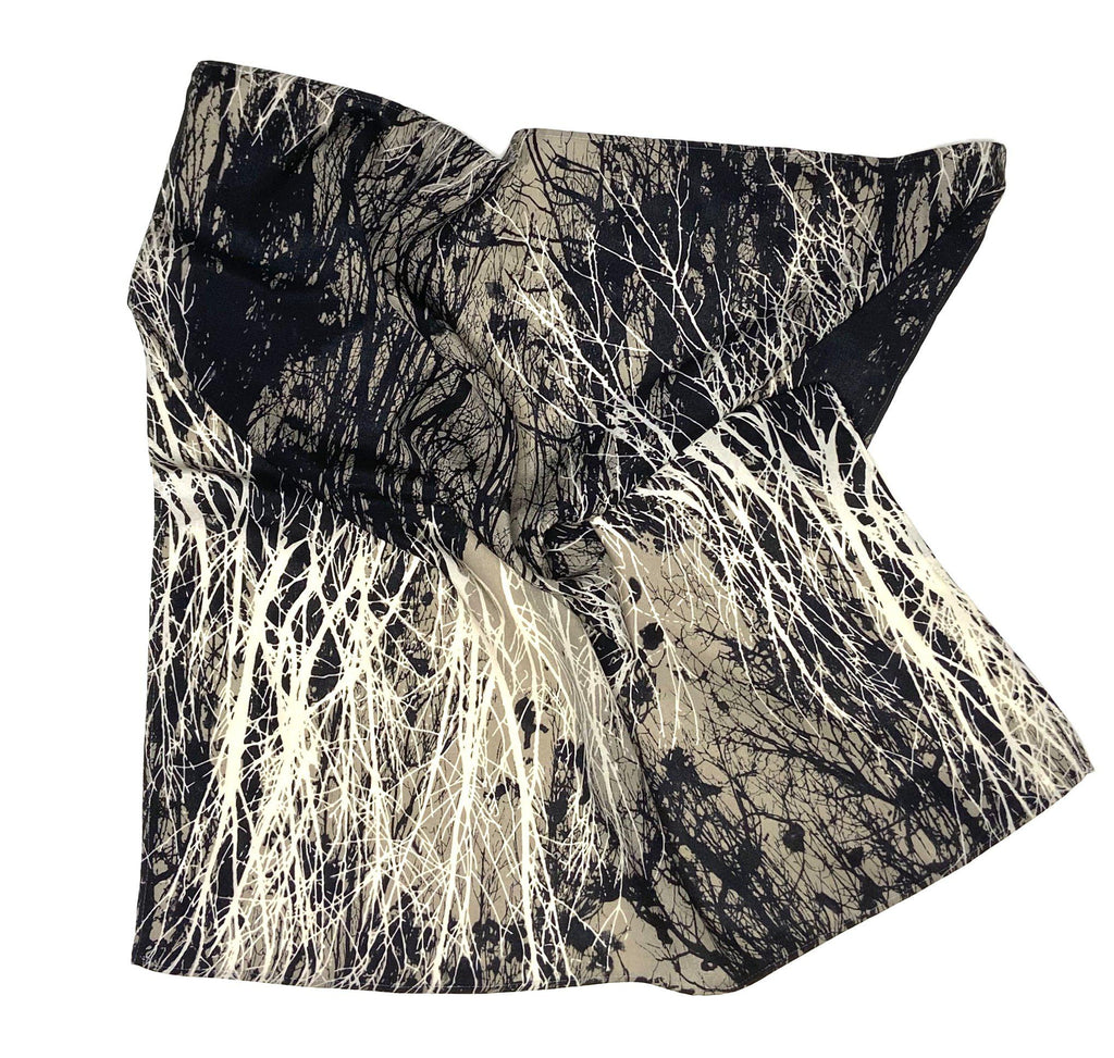 Reanna - Abstract Forest Print Scarf-Repurposed Scarves-Inspire Me Scarves