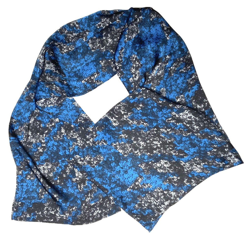 Jake - Abstract Print Scarf-Repurposed Scarves-Inspire Me Scarves