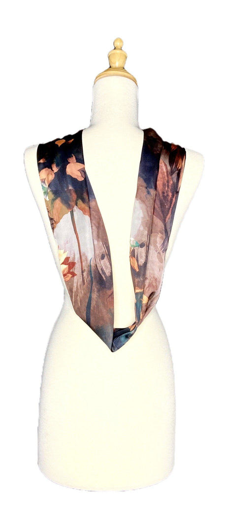 Milo - Abstract Floral Scarf-Repurposed Scarves-Inspire Me Scarves