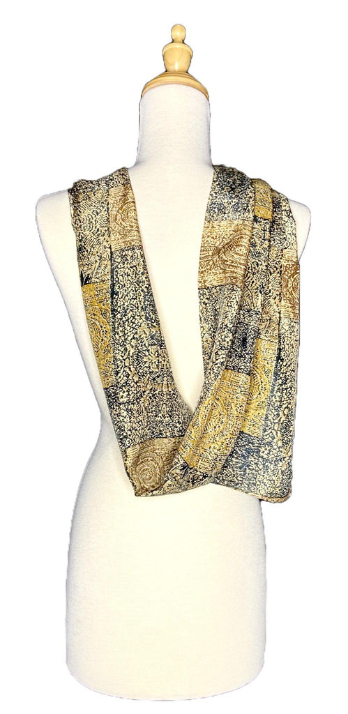 Elina - Abstract Print Scarf-Repurposed Scarves-Inspire Me Scarves