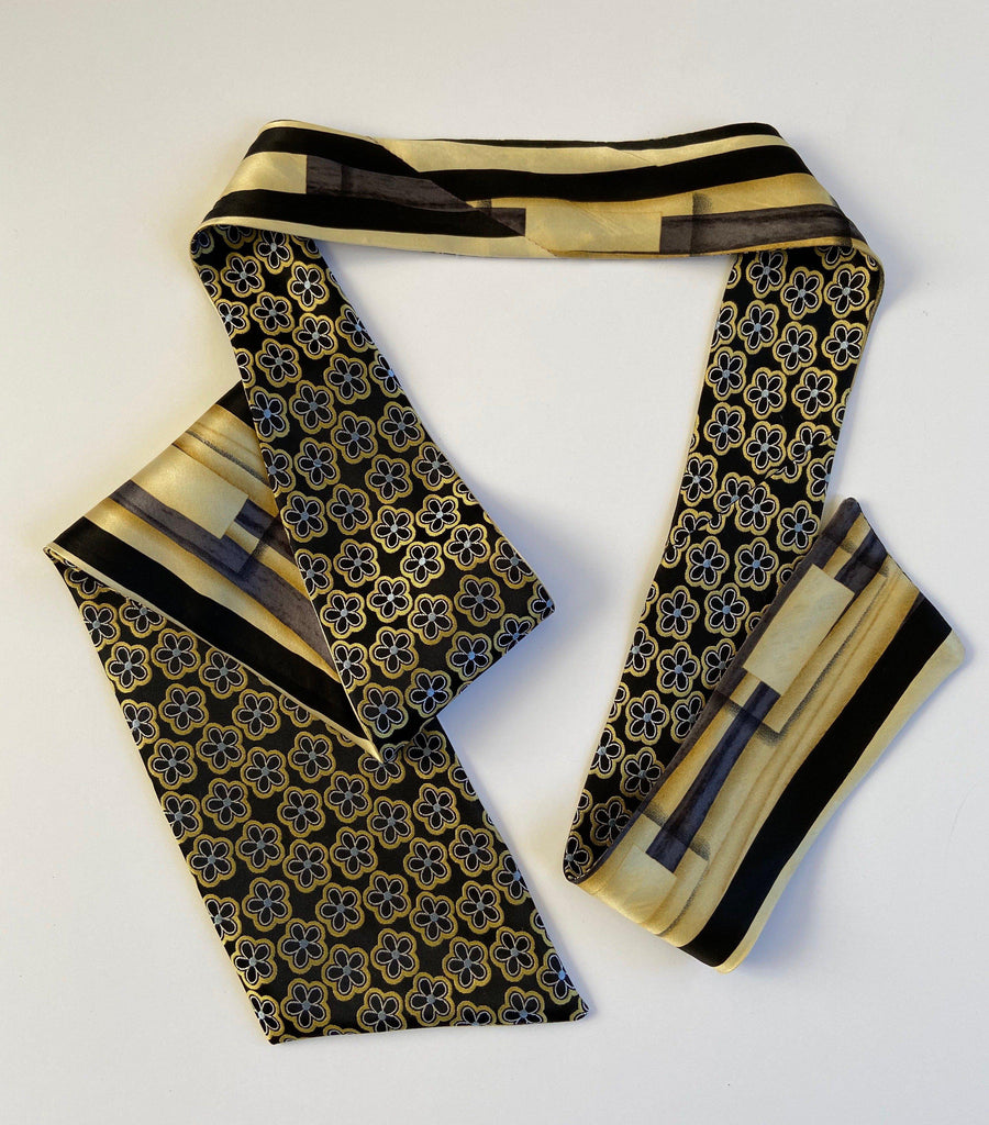 Deangelo - Floral & Abstract Ti-Scarf-Ti-Scarves-Inspire Me Scarves