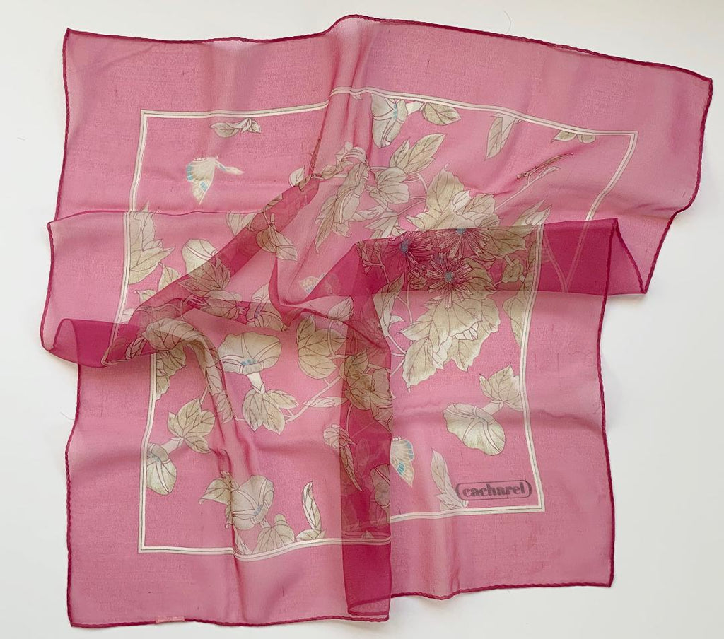 Bohdan - Pink Classic Cacharel Mini Scarf-Mini Scarves-Inspire Me Scarves