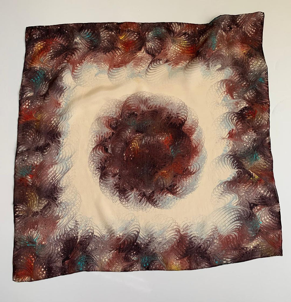 Lilith - Cream/Brown Mini Scarf-Mini Scarves-Inspire Me Scarves