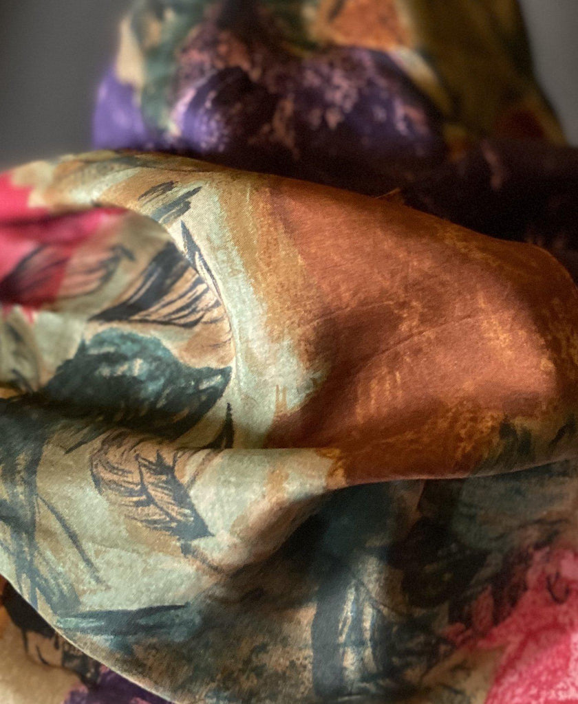 Savannah - Abstract Floral Scarf-Spring/Summer Inspired Scarves-Inspire Me Scarves