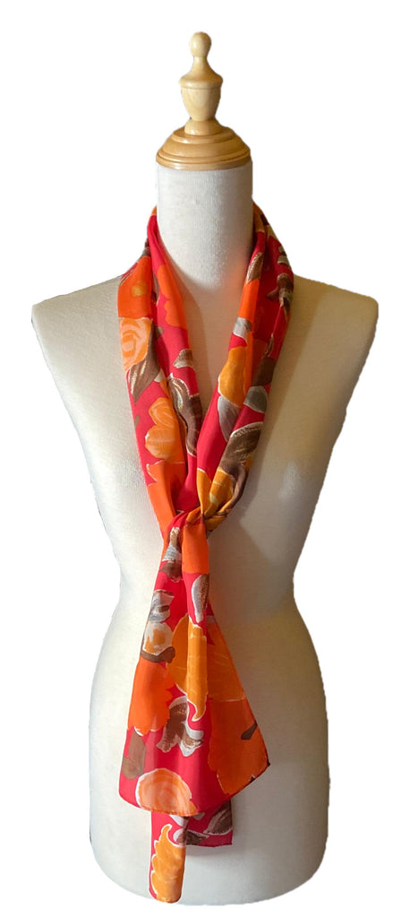 Rayne - Classic Floral Scarf-Spring/Summer Inspired Scarves-Inspire Me Scarves