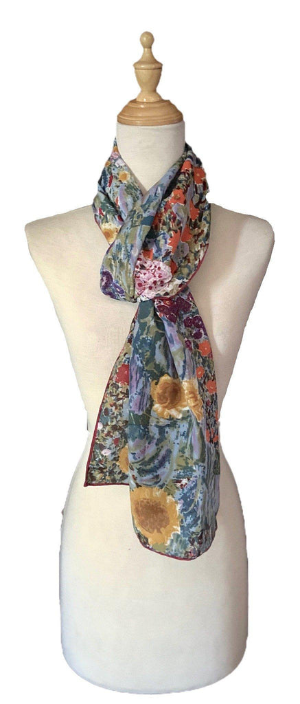 Beulah - Classic Abstract Silk Scarf-Vintage/Silk/Other Scarves-Inspire Me Scarves