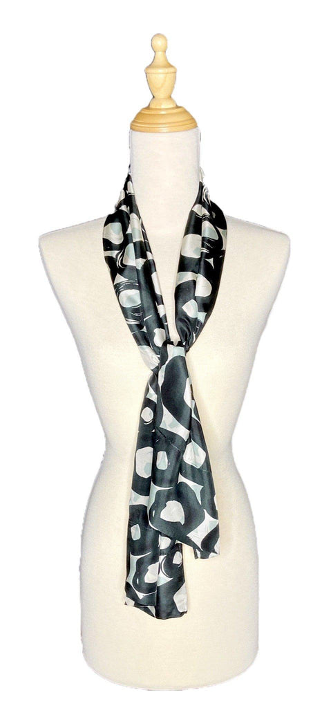 Petre - Silk Abstract Scarf-Repurposed Scarves-Inspire Me Scarves