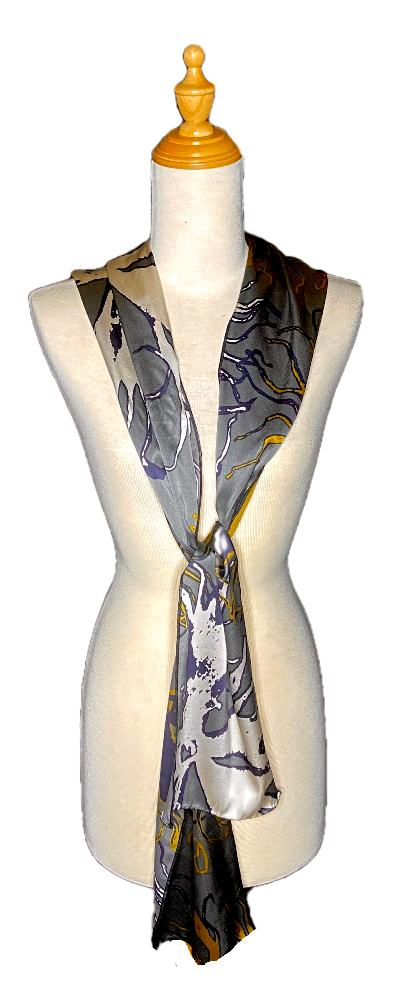 Arie Abstract Vision Scarf-Repurposed Scarves-Inspire Me Scarves
