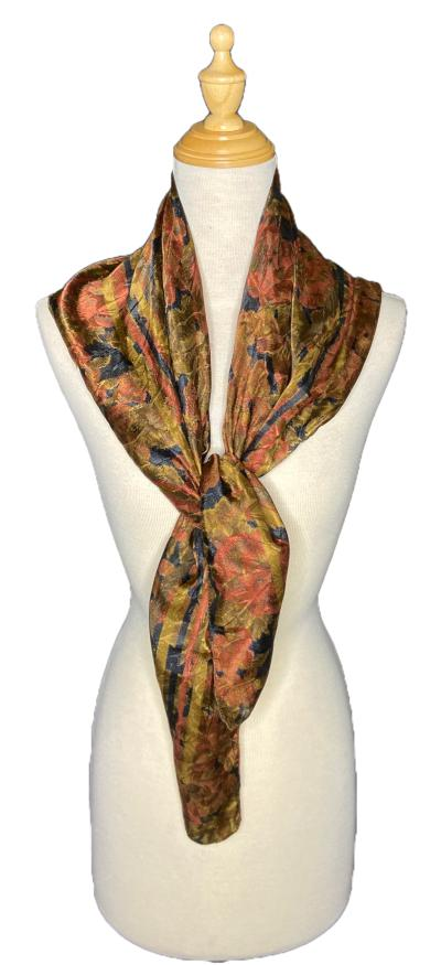 Cleo- Vintage Earth Toned Scarf-Vintage/Silk/Other Scarves-Inspire Me Scarves