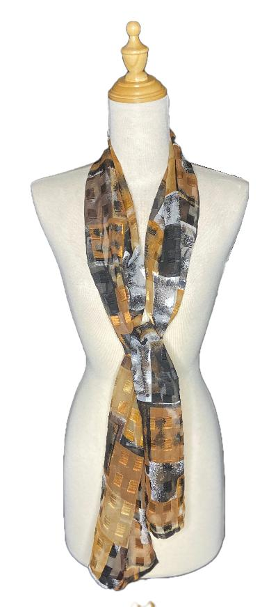 Jakob Soft Light Scarf-Repurposed Scarves-Inspire Me Scarves