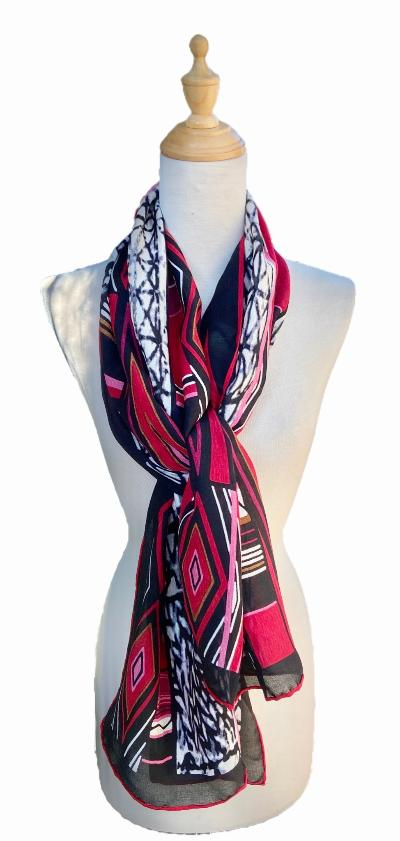 Savinna - Classic Geometric Beauty-Scarf-Vintage/Silk/Other Scarves-Inspire Me Scarves