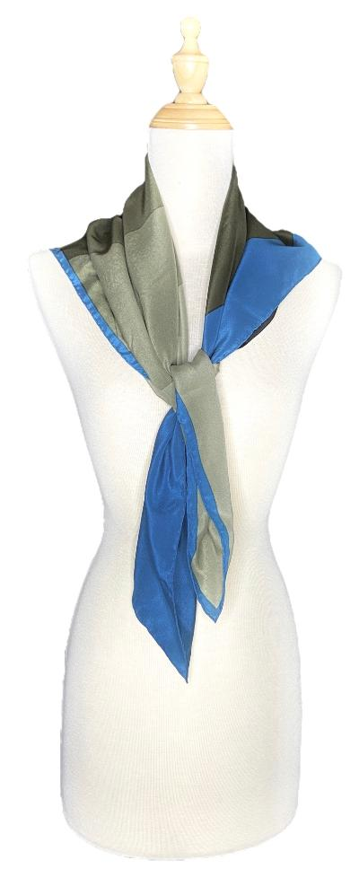 Clayton- Vintage Luxurious Color Block Scarf-Vintage/Silk/Other Scarves-Inspire Me Scarves