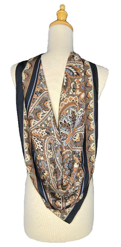 Troy - Classic Paisley Floral Scarf-Vintage/Silk/Other Scarves-Inspire Me Scarves