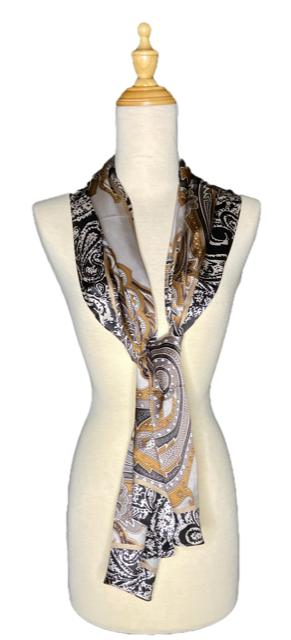 Jazmyn - Classic Abstract Silk Scarf-Vintage/Silk/Other Scarves-Inspire Me Scarves