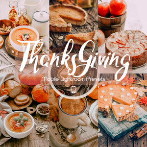 Thanksgiving Mobile Lightroom Preset