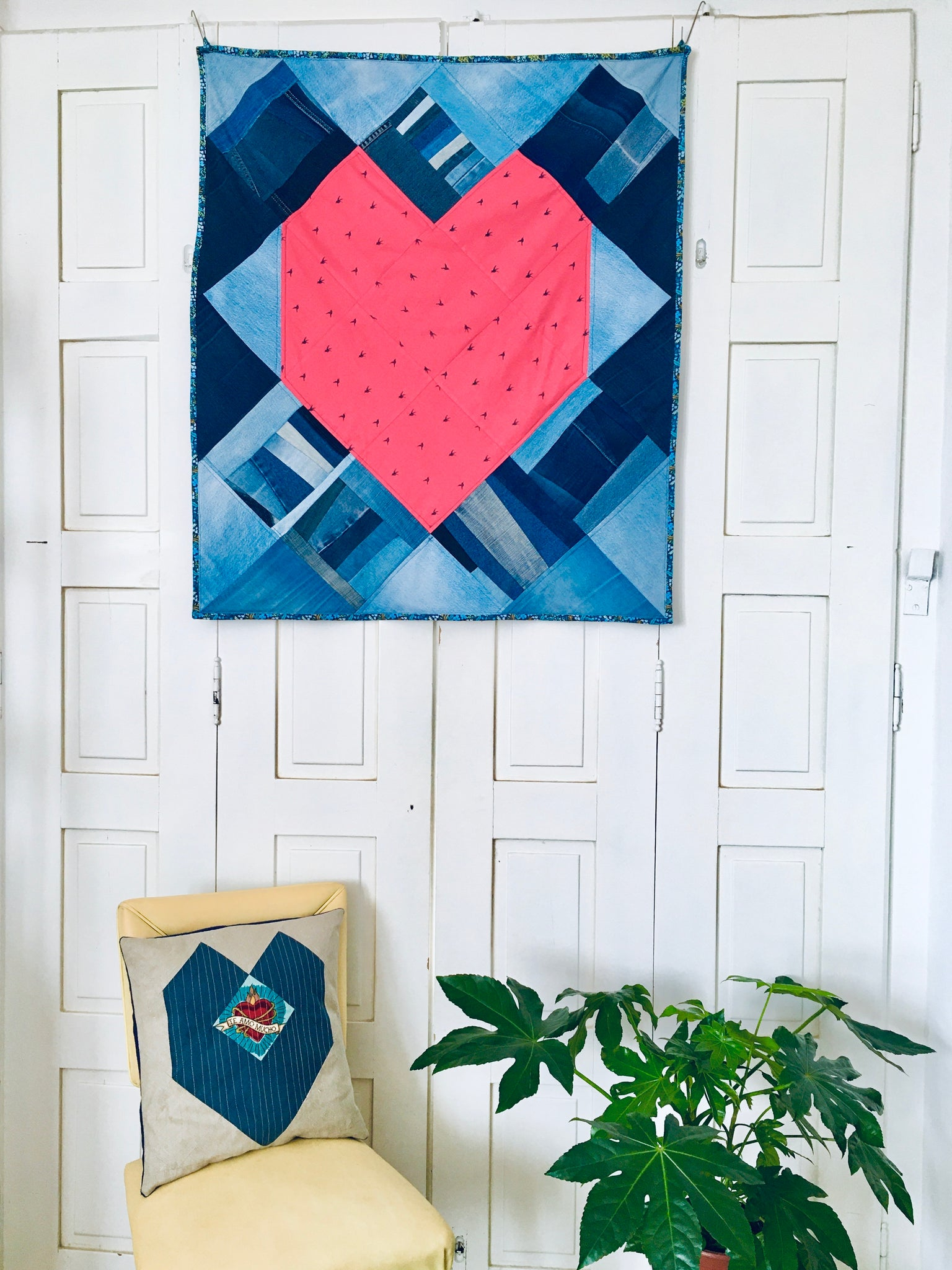 "Manta de patchwork ""Piece of My Heart"""