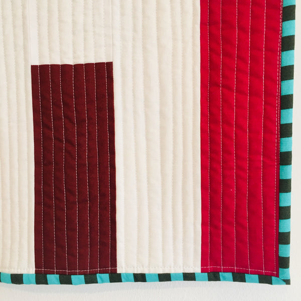 "Quilt ""Unfinished Lines"" III"