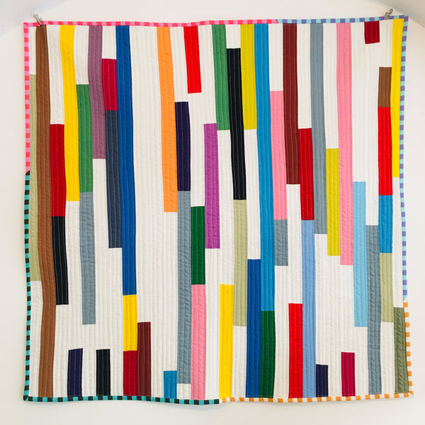 "Quilt ""Unfinished Lines"" II"