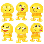 Jumping Emoji Figure Smiling Face Spring Doll
