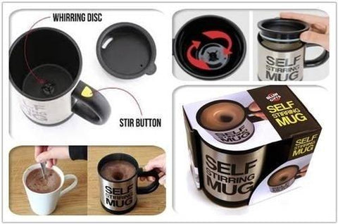 450ML Portable Lazy Auto Self Stirring Mug Mixing Tea Coffee Cup