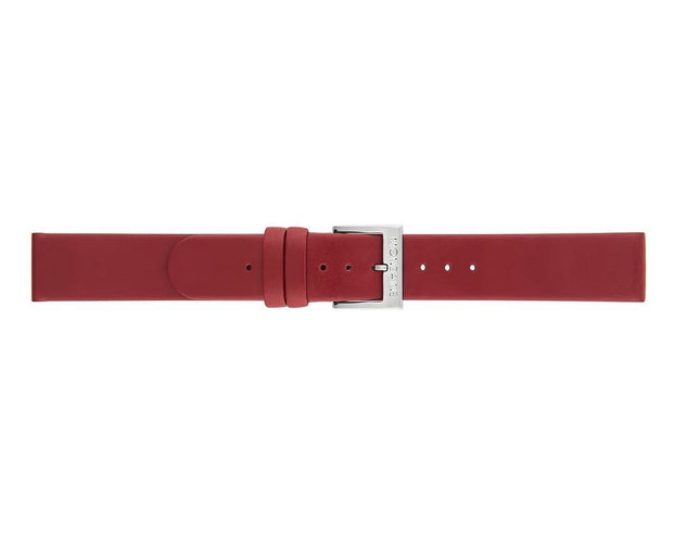 Mondaine - Mondaine Watch Band Red Leather Brushed FE3116.30Q.1