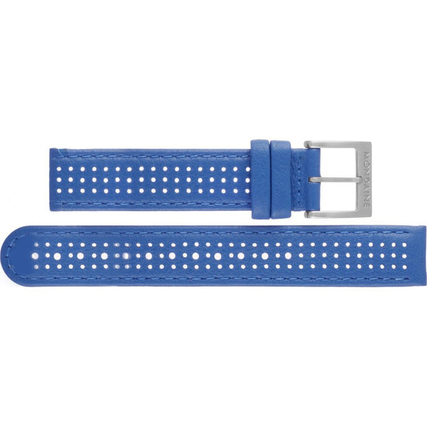 Mondaine - Mondaine Watch Band Blue Leather Stitch Brushed FE3120.40Q.1