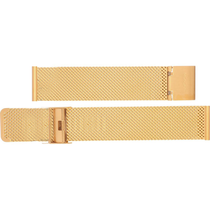 Mondaine - Mondaine Watch Band Gold Bracelet Mesh Brushed FM8918.IPGEM