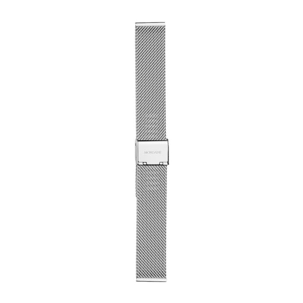 Mesh Milanaise Bracelet Watch Band Polished - p | Mondaine Australia