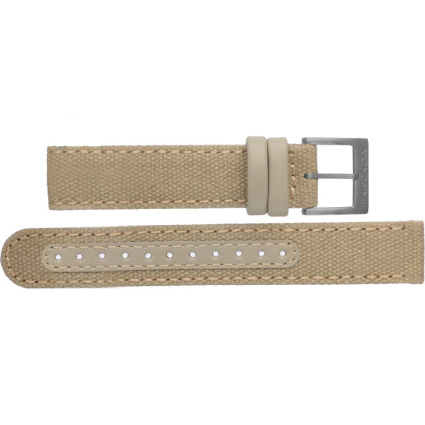 Mondaine - Mondaine Watch Band Beige Canvas Stitch Black FT3120.70B