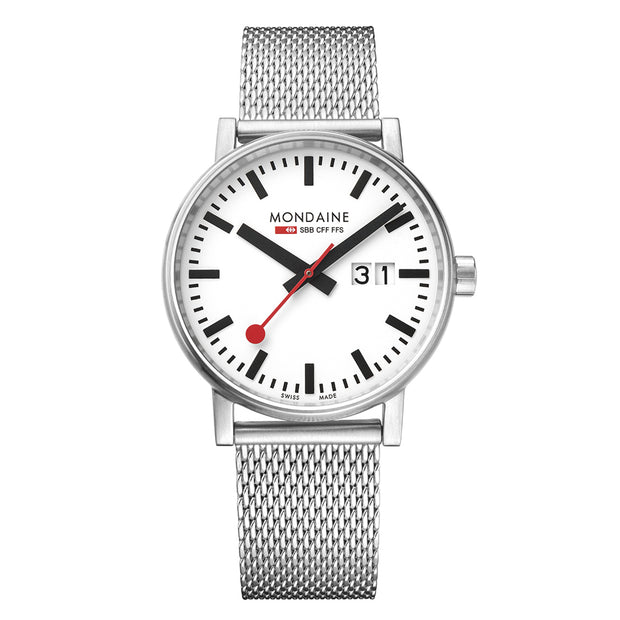 Mondaine Official Swiss Railways evo2 Big Date Watch | Mondaine Australia