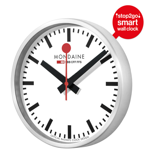 Mondaine Official Swiss Railways Smart stop2go Clock