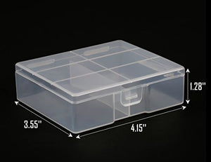 Whizzotech AA Battery Storage Case Battery Holder Organizer Box BL05 (holds 24 AA)